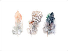 Gallery print  3 feathers - Verbrugge Watercolor