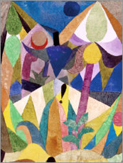 Foam board print  Tropical Landscape - Paul Klee