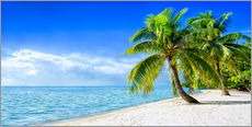 Wall sticker  Holiday at the beach with palm trees and sea - Jan Christopher Becke