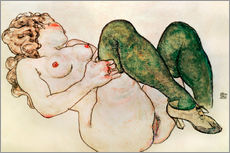 Wall Stickers  Nude with green stockings - Egon Schiele