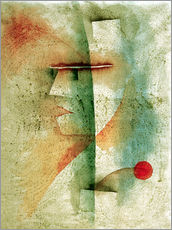 Wall Stickers  Portr.of a Costumed Man - Paul Klee