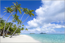 Wall sticker  Palms on the beach with turquoise water - Jan Christopher Becke