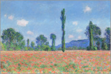 Gallery print  Poppy field - Claude Monet