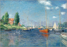 Wall sticker  Red boats at Argenteuil - Claude Monet