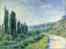 Premium poster  Road to Vetheuil - Claude Monet