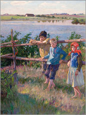 Wall sticker  Children at the lake - Nikolay Bogdanov-Belsky