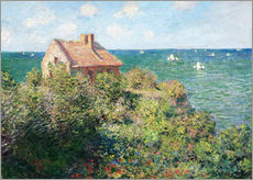 Gallery print  Fisherman's Cottage on the Cliffs at Varengeville - Claude Monet