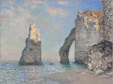 Gallery print  The Rock Face of Aval - Claude Monet