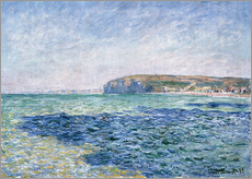 Wall sticker  shadows on the sea at Pourville - Claude Monet