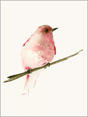 Wall Stickers  Rasberry red bird - Dearpumpernickel