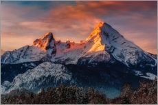 Wall sticker  Alpenglow at Watzmann - Dieter Meyrl