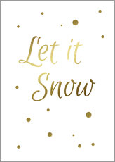 Wall sticker  Let it Snow - Finlay and Noa