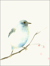 Wall sticker  Light blue bird - Dearpumpernickel