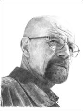 Wall sticker  WALTER WHITE - pencil hommage - Cultscenes