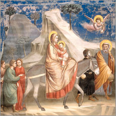 Gallery print  The Flight to Egypt - Giotto di Bondone