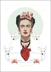 Gallery print  Frida with heart - Anna McKay