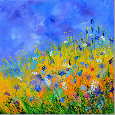 Gallery print  Meadow with flowers - Pol Ledent