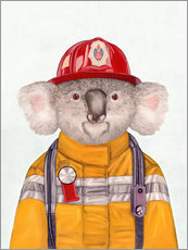 Wall sticker  Koala Firefighter - Animal Crew