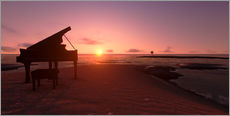 Gallery print  Piano on the beach