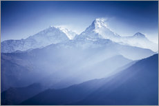 Gallery print  Annapurna mountains in sunrise light