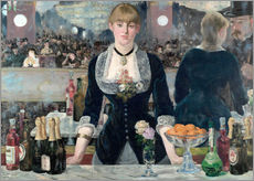 Wall sticker  Bar at the Folies-Bergere - Edouard Manet