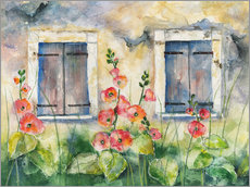Wall sticker  Hollyhocks - Jitka Krause