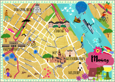 Wall Stickers  Mainz Map - Elisandra Sevenstar