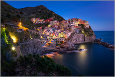 Gallery print  Manarola at blue hour - MUXPIX