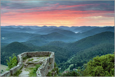 Michael Valjak - Sunrise at a castle ruin in Palatinate Forest