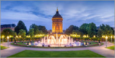 Gallery Print  Mannheim Water Tower and Rosengarten at night - Jan Christopher Becke