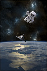 Gallery print  At astronaut drifting in space - Marc Ward