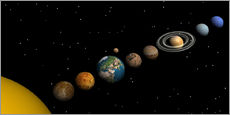 Wall sticker  Planets of the solar system - Elena Duvernay
