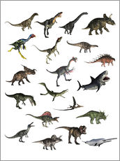 Gallery print  Overview dinosaurs - Elena Duvernay