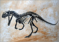 Wall sticker  Ceratosaurus dinosaur skeleton. - Harm Plat
