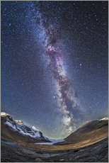 Wall sticker  Milky Way over the Columbia Icefields in Jasper National Park, Canada. - Alan Dyer