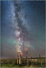 Gallery print  Milky Way over an old ranch corral. - Alan Dyer