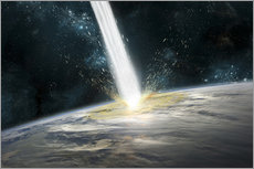 Gallery print  A comet strikes the earth - Marc Ward