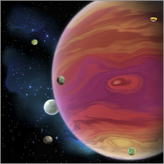Wall sticker  Artist's concept of planet Jupiter. - Corey Ford