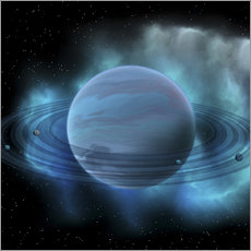 Gallery print  Artist's concept of planet Neptune. - Corey Ford