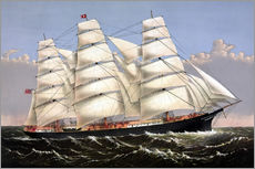 Wall sticker  Vintage print of the Clipper ship Three Brothers. - John Parrot