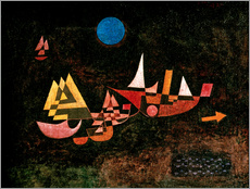 Wall sticker  Ships setting Sail - Paul Klee