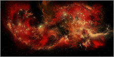 Wall Sticker  A large red nebula covering a huge region of space. - Corey Ford