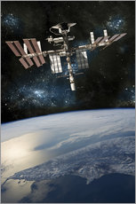 Wall sticker  Space shuttle docked at the International Space Station. - Marc Ward