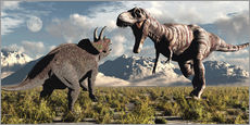 Wall Sticker  Tyrannosaurus Rex and Triceratops meet for a battle to the death. - Mark Stevenson