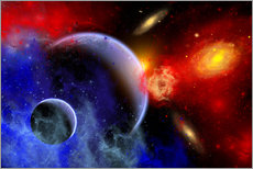 Gallery print  A mixture of colorful stars, planets, nebulae and galaxies - Mark Stevenson