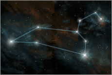 Gallery print  Artist's depiction of the constellation Leo the Lion. - Marc Ward
