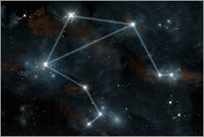 Gallery Print  Artist's depiction of the constellation Libra the Scales. - Marc Ward