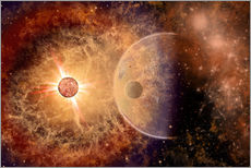 Wall Sticker  A supernova destroying itself and its planets. - Mark Stevenson