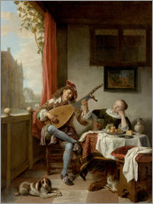 Wall sticker  The Lutenist - Hendrick Sorgh