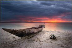 Gallery Print  sunset boat - Vincent Xeridat